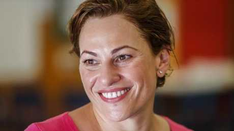 Deputy Premier Jackie Trad is tipped to replace Curtis Pitt as Treasurer in a Cabinet reshuffle. Picture: AAP/Glenn Hunt
