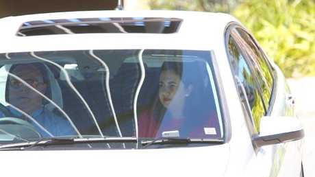 Labor's Annastacia Palaszczuk leaving 1 George St yesterday. Picture: AAP/David Clark