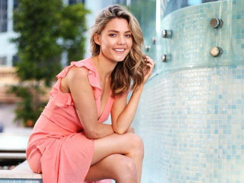 Sam Frost hangs out at The Primus Hotel. Picture: Sam Ruttyn.