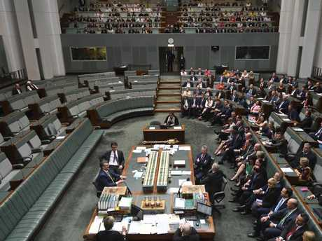 The four brave men -- Bob Katter, Keith Pitt, David Littleproud and Victoria's Russell Broadbent -- stayed in the Chamber to vote no to same-sex marriage while so many other opponents vanished.