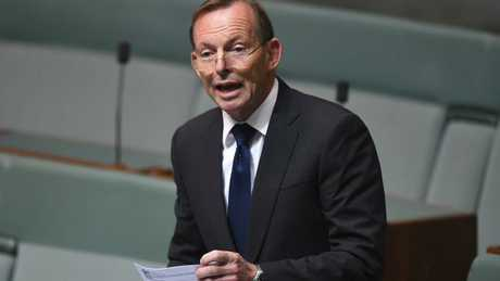 Tony Abbott was not in the chamber for the final vote.