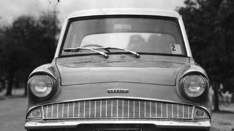 The top half of a Ford Anglia. Our archives didn't have a photo that fit our modern online image shapes. Picture: Supplied.