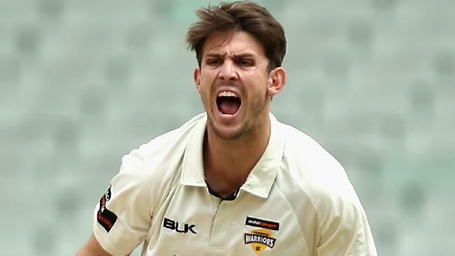 MELBOURNE, AUSTRALIA - DECEMBER 04: Mitchell Marsh of Western Australia appeals unsuccessfully during day two of the Sheffield Shield match between Victoria and Western Australia at Melbourne Cricket Ground on December 4, 2017 in Melbourne, Australia. (Photo by Robert Prezioso/Getty Images)