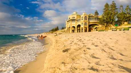 It could be a dry Christmas in WA such as here at Cottesloe beach. Photo: Alamy Fee