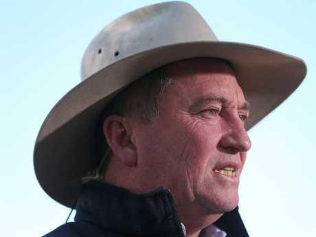 Barnaby Joyce after last week's New England victory. Picture: Lyndon Mechielsen/The Australian