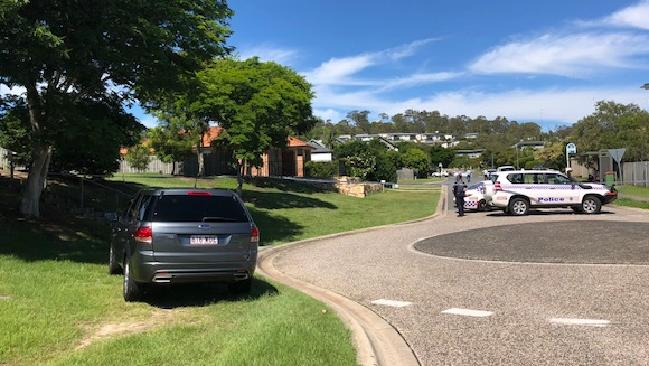The scene of a shooting at Upper Coomera. Photo: Amanda Robbemond