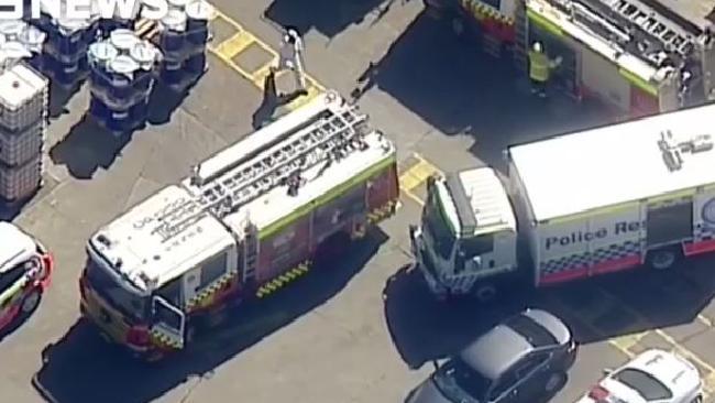 Two men are trapped in a tank in western Sydney. Source:Channel 9