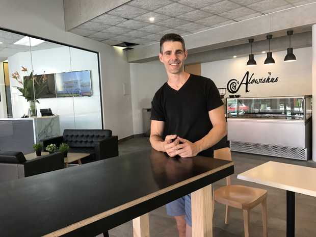 OPENING: New cafe Alowishus is opening in a unique spot in Maryborough 's CBD. Owner Michael McPhee can't wait to launch the new business.