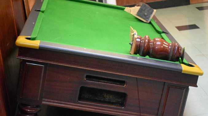 DAMAGED PROPERTY: A man has been charged with wilful damage to the pool table in Mundubbera.