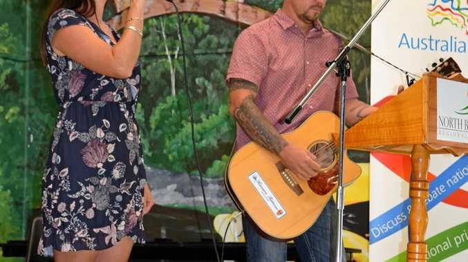 ENTERTAINMENT: Katie and Adam Richmond will be the opening act at Saturday night's Festival of Small Halls at Degilbo.