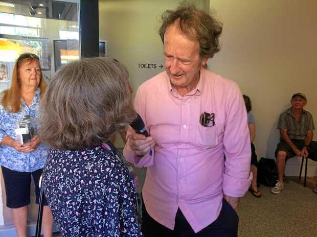 TALK BACK: ABC's Ian 'Macca' McNamara visited Murwillumbah on Thursday.