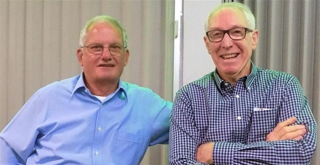 Ian McKinnon and Bob McNamara at the recent Christmas luncheon.