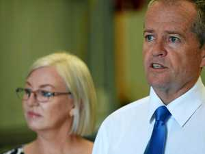 Opposition leader Bill Shorten rolls into Bundy