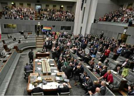 The lonely No side during the same-sex marriage debate.