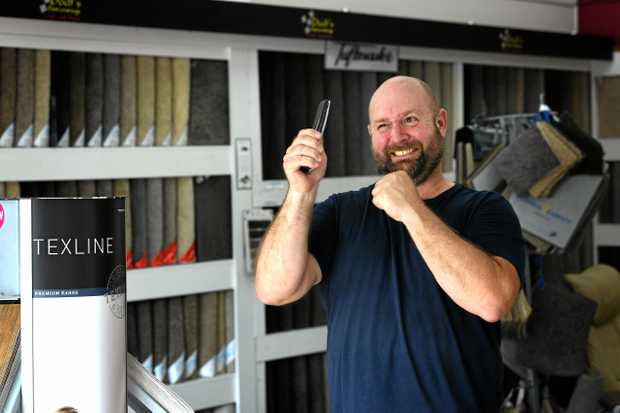 Mal Dodt from Dodts floor coverings in Gympie has been a month without a phone.