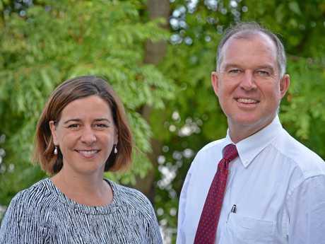 Deb Frecklington and Gympie Regional Council MP Tony Perrett.