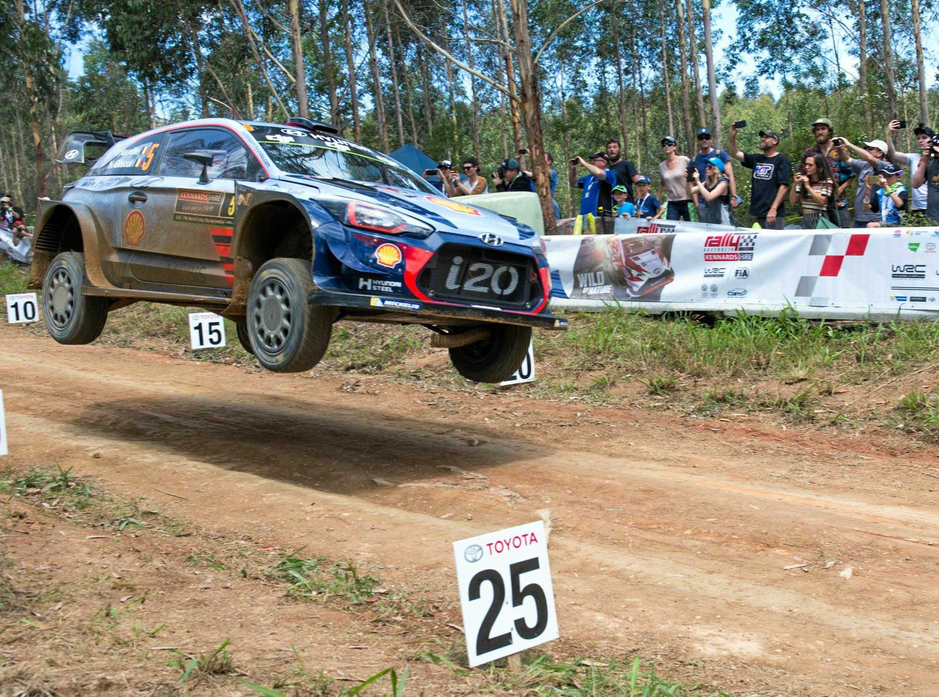 Kennards Rally Australia Wedding Bells Afternoon stage stage.Thierry Neuville. 19 NOV 2017