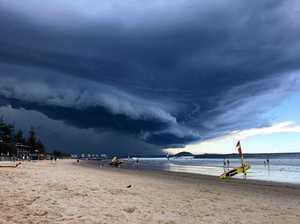 Massive severe storm cells zero in on Sunshine Coast