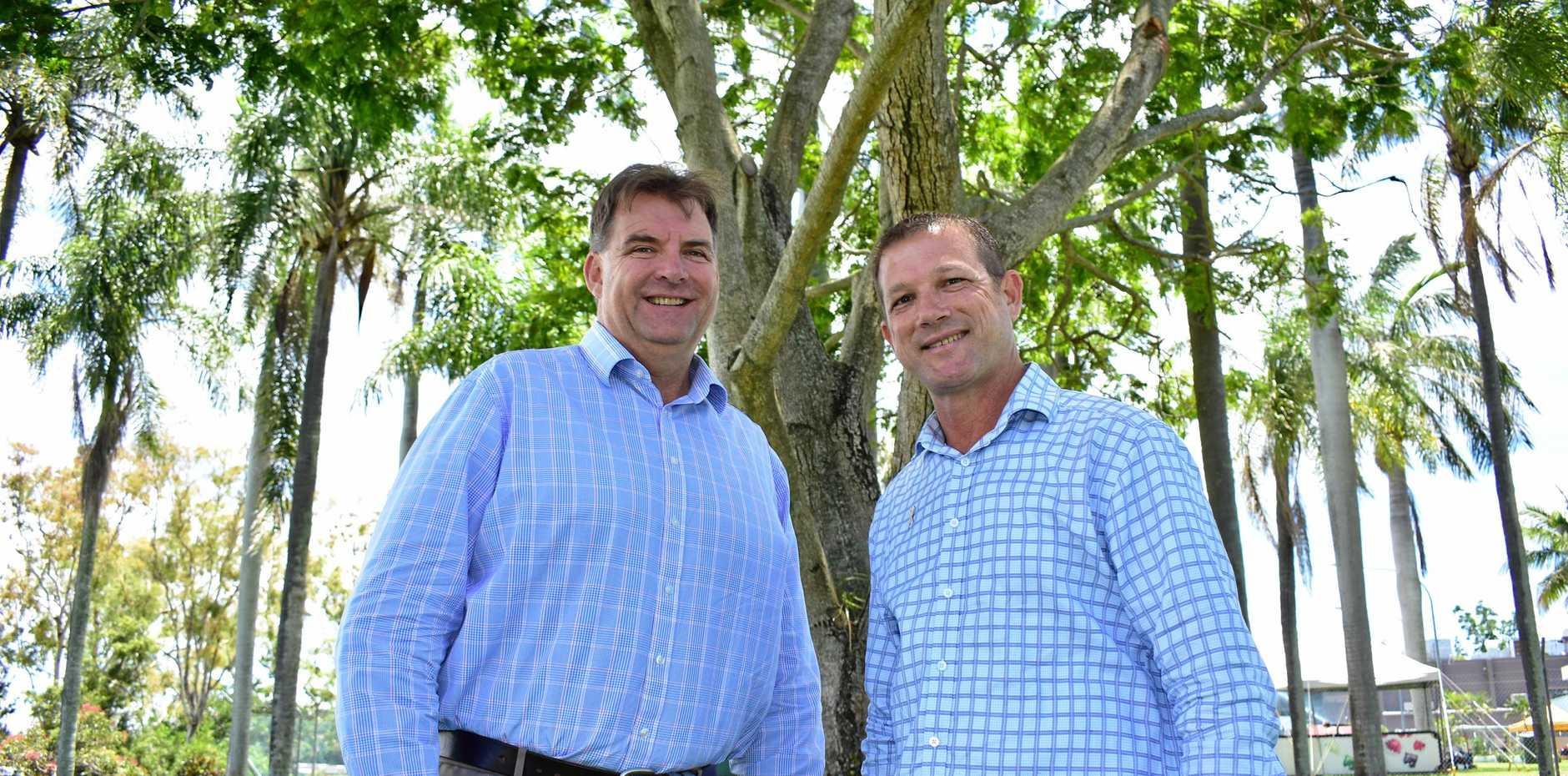 WINNERS: Burnett MP Stephen Bennett and new Bundaberg MP David Batt are happy with their respective LNP wins.
