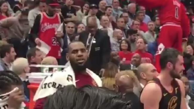 LeBron wasn't having any of this.