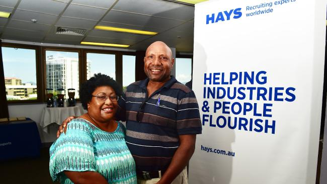 Chrystine and Andreas Pena from Jabiru, Northern Territory at the Hays and Glencore Open Day at the Hotel Grand Chancellor. Picture: Shae Beplate.