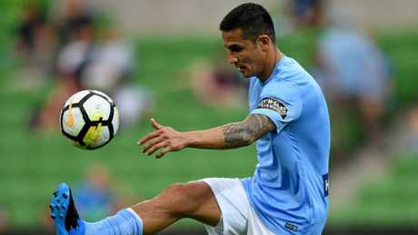 Tim Cahill quit Melbourne City earlier this week but coach Warren Joyce did not want to go into details. Picture: AAP