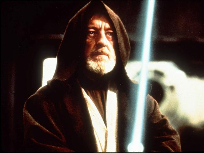 Actor Alec Guinness in the film Star Wars, playing Obi-Wan Kenobi. The blade of light he wielded has since inspired generations. Is it possible to build one? Picture: Lucas Film