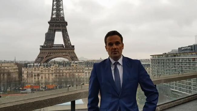 Australia's Ambassador to France, Brendan Berne, proposed to his boyfriend in Paris after marriage equality was voted in by MPs. Picture: Facebook