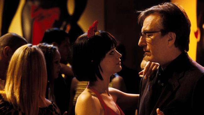 Heike Makatsch and Alan Rickman in Love Actually.