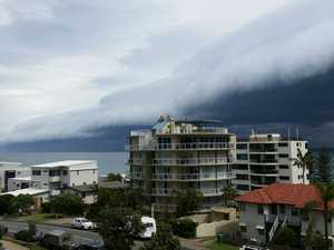 Pockets of thunderstorms, showers hit Coast