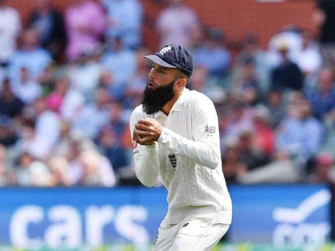 Moeen Ali of England catches Mitchell Starc of Australia on Day 4 of the Second Test match between Australia and England at the Adelaide Oval in Adelaide, Tuesday, December 5, 2017.