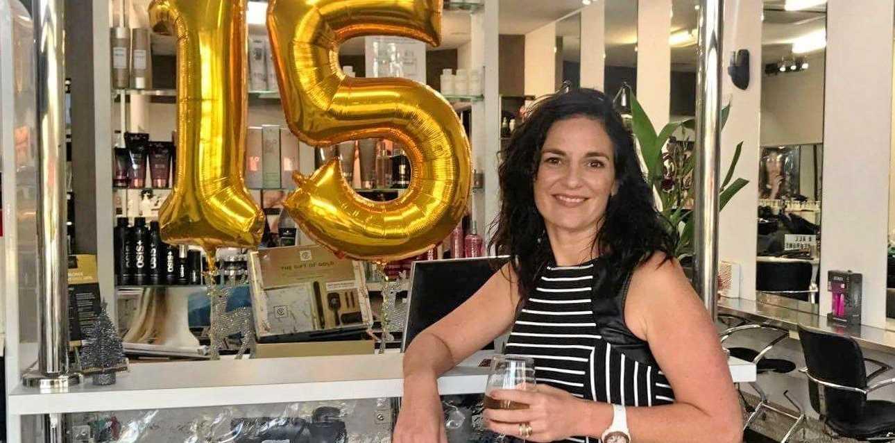 SUCCESS: Amanda Schwarzrock is celebrating 15 years of owning J & R Hair Designers.