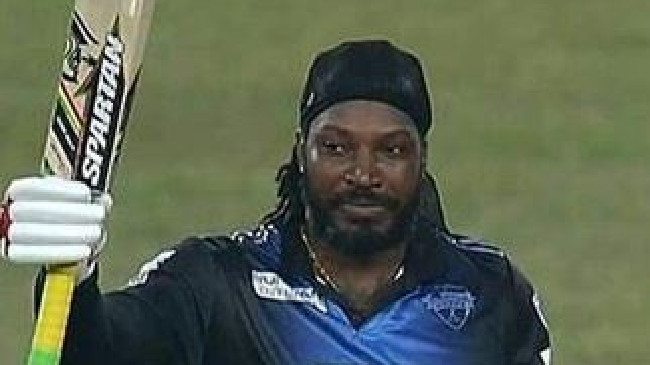 Chris Gayle returned to form with a vengeance.