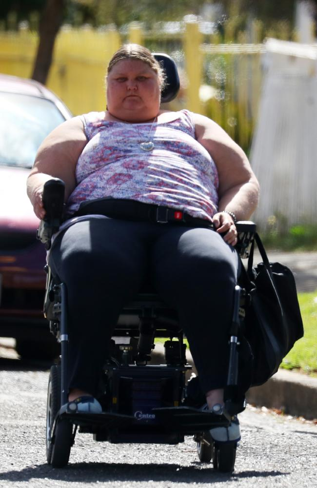 Donna Gooch says 'Miller gets a bad rap' because of the 'ice flats' but the disability pensioner loves her suburb. Picture: Matrix for news.com.au
