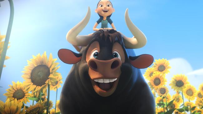 John Cena stars as the voice of Ferdinand the bull.