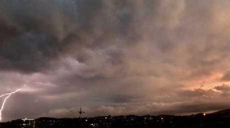 Sacha Jordan took this picture of lightning striking in Woolloongabba.