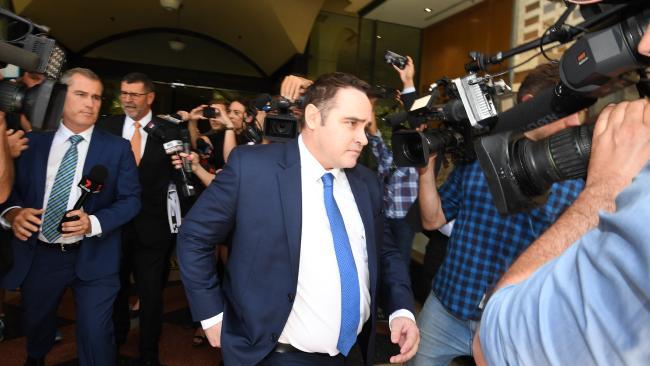 Good behaviour bond.... Ben McCormack leaves court last week.