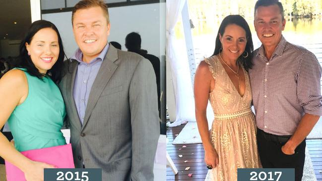 Claire and her husband have lost 34 kgs between them.