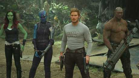 The 'strenuously funny' Guardians gang