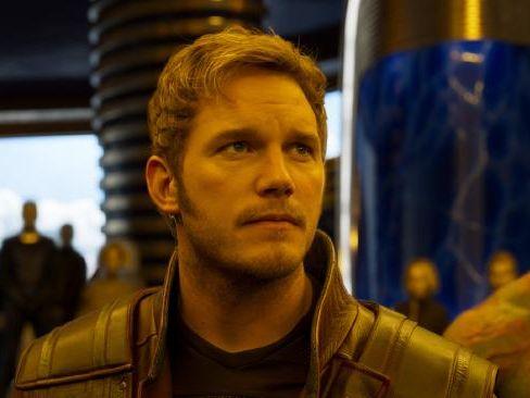 Chris Pratt in Guardians of the Galaxy.