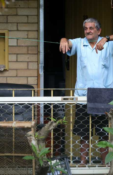 A resident in a Miller housing estate looks out on a Tuesday morning. Picture: Matrix for news.com.au