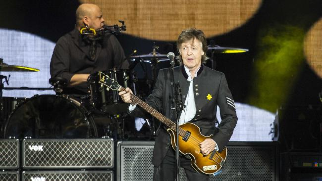 Paul McCartney performs at NIB Stadium in Perth on Saturday, December 02, 2017