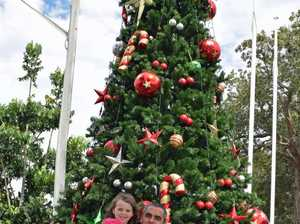 Admiring the Evans Head Christmas tree are Arrow