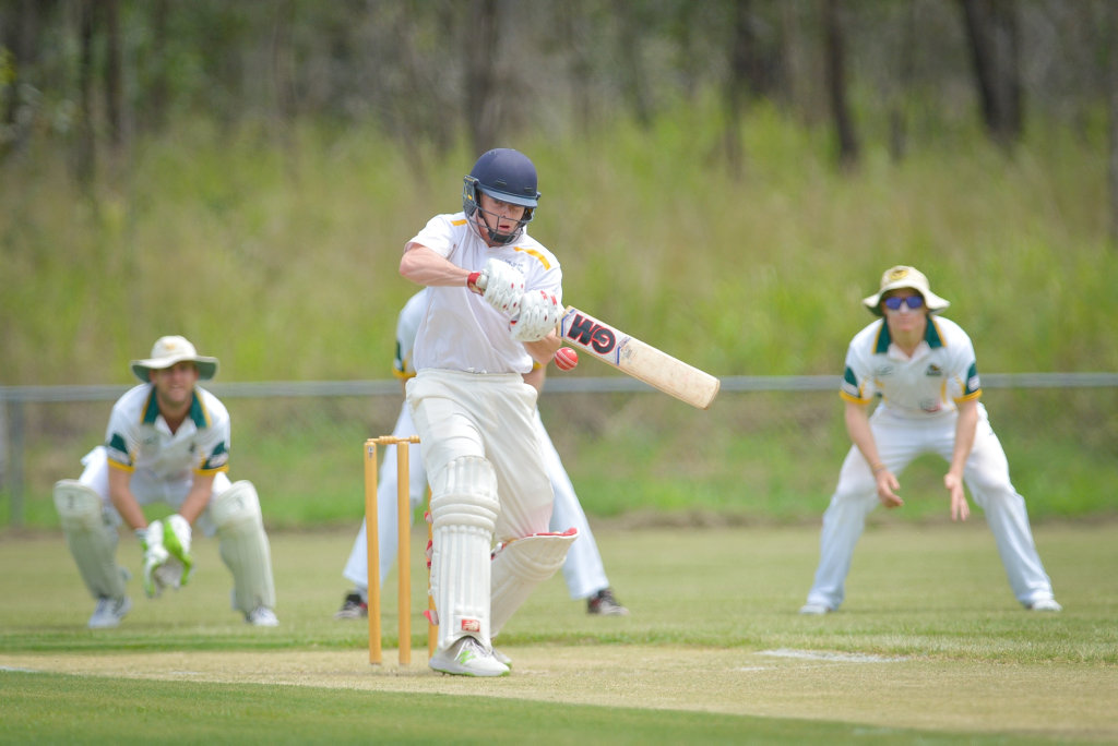 Sam Lowry made a valuable 54.The Glen v Gracemere.