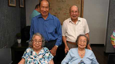 FAMILY REUNION: Phyllis May Seechin with her brothers and sister. The sisters hadn't seen each other for more than 30 years.