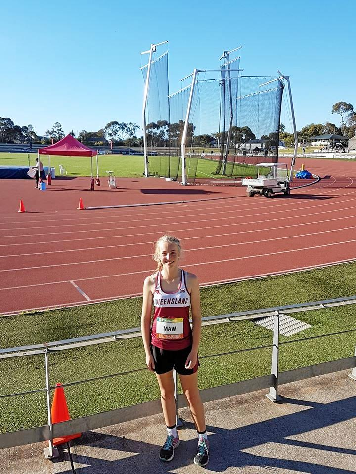 Warwick discus thrower Lily Maw placed sixth at the Australian All Schools Track and Field Championship yesterday.