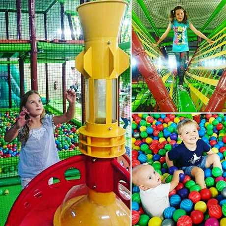 A promo picture collage from Facebook promoting some of The Gympie Jungle play areas.