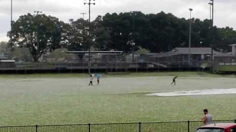 Denise Wright Andersen: No cricket on Lower Fischer Park but lots of hailstone skiing!