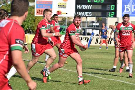 Damien Otto scored a vital try for Hervey Bay Seagulls in their 2016 Bundaberg Rugby League grand final win against The Waves Tigers.