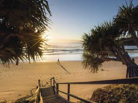 Early bird gets the worm at Diggers Beach, Coffs Harbour. Picture: Dallas Kilponen/Destination NSW